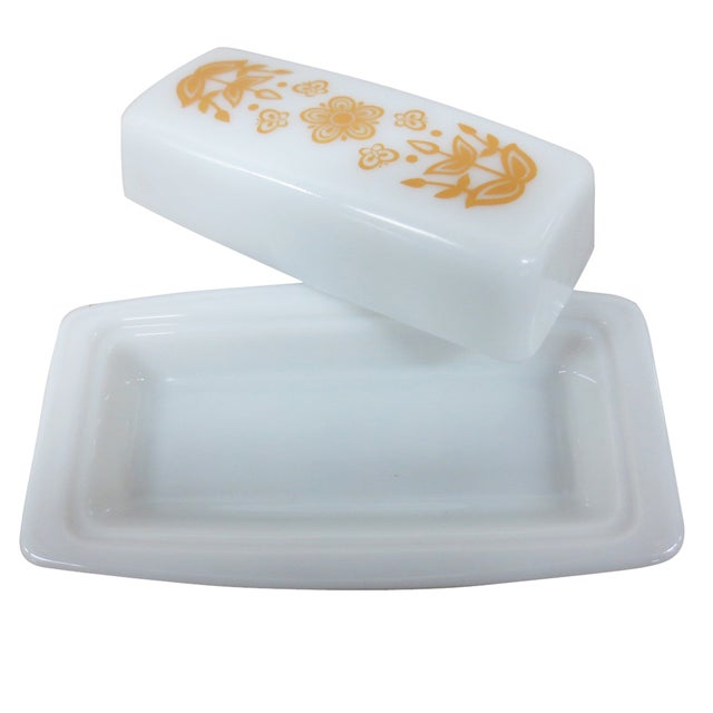 Pyrex Vintage Milk Glass Covered Butter Dish - Image 7 of 7