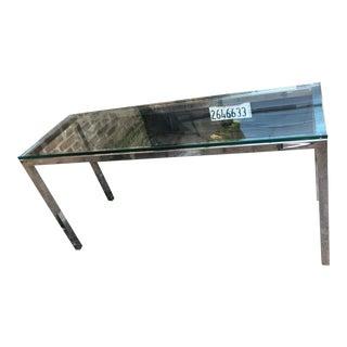 Mid Century Modern Milo Baughman Rectangular Chrome Console Table For Sale
