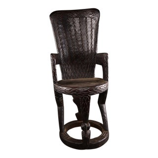 Antique African Chief's Throne For Sale