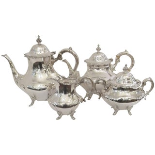 Reed and Barton Sterling Silver Tea Set - 4 Pc. Set For Sale