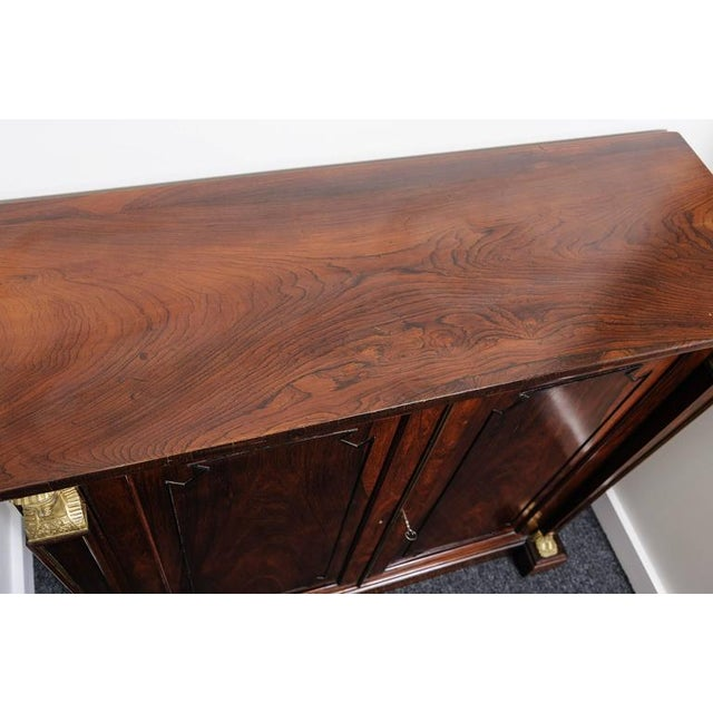 19th Century English Regency, Two-Door Cabinet, Rosewood with Doré Bronze Mount For Sale - Image 9 of 9