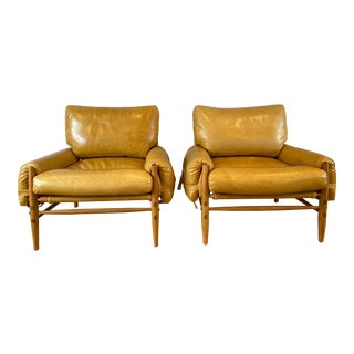 Modern Anthropologie Rhys Chairs - A Pair For Sale