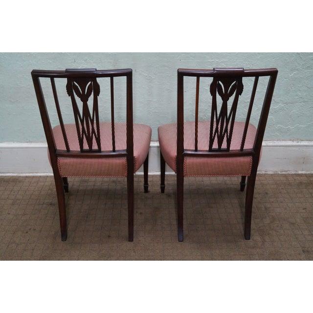 1940s Mahogany Hepplewhite Dining Chairs -Set of 6 - Image 4 of 10