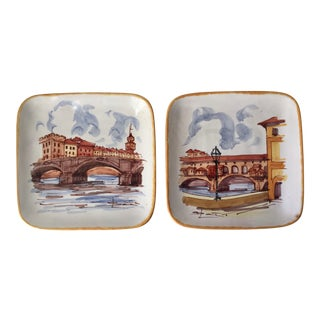 2 Italian Hand-Painted Dishes-Pv For Sale