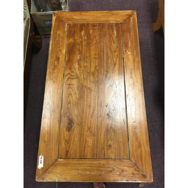 Early 20th Century 20th Century Chinese Elmwood Coffee Table For Sale - Image 5 of 11