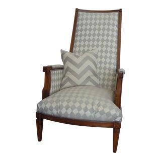 Mid-Century Modern Regency Grey Chair For Sale