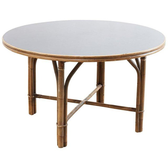 Ficks Reed Midcentury Rattan Dining Table For Sale - Image 13 of 13