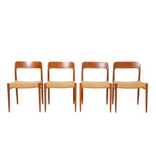 Vintage Danish Modern Niels Moller Teak Chairs - Set of 4