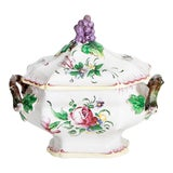 Image of 19th C. Vintage French Lunaville Grape-Motif Tureen