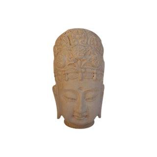 Ivory Terracotta Buddha Head
