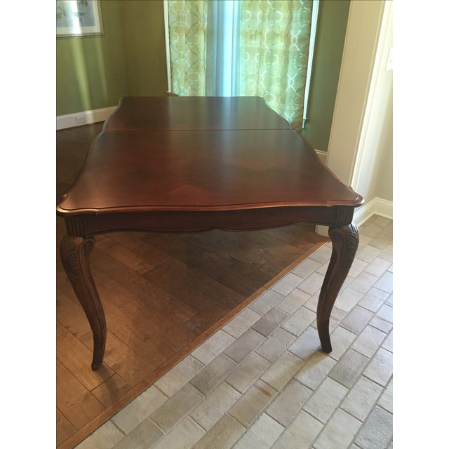Cherry Wood Dining Room Table - Image 8 of 11