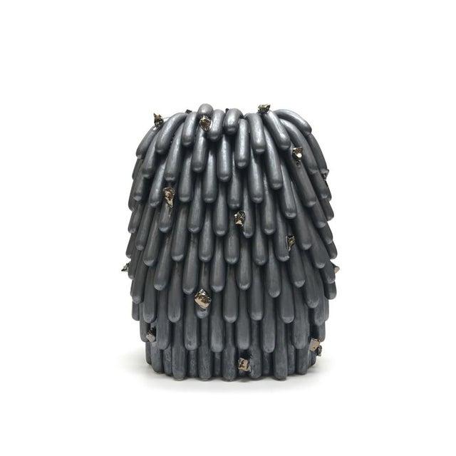 Contemporary Linda Lopez, Asphalt Husky Dust Furry With Rocks #2, 2018 For Sale - Image 3 of 3