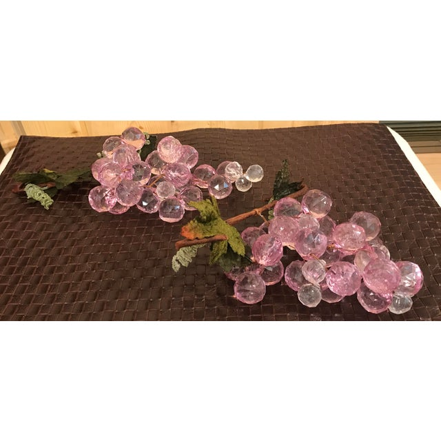 Pink & White Faceted Lucite Grapes - A Pair For Sale In Dallas - Image 6 of 8