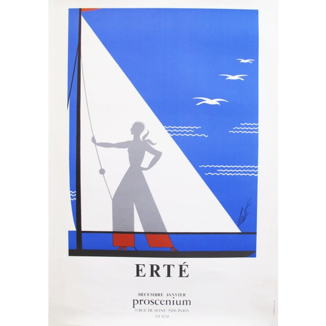 This original French poster from Galerie Proscenium was for a 1978 exhibition of the work of Erté, a French-Russian artist...