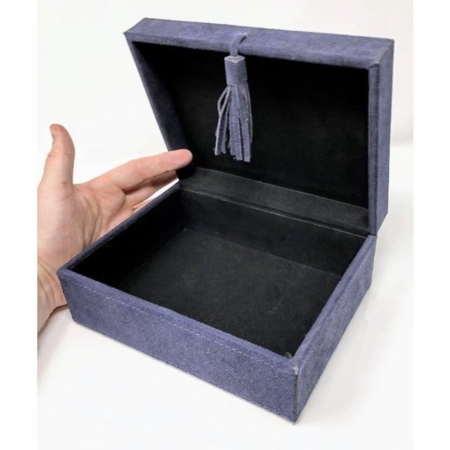 Ralph Lauren Ralph Lauren Inspired Navy Blue Suede Leather Box - Medium For Sale - Image 4 of 11