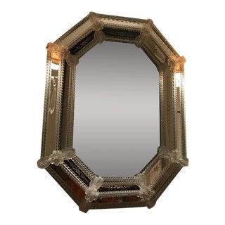 Octagonal Venetian Mirror For Sale