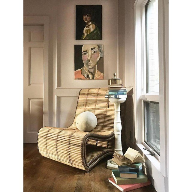 Stone 1950s Italian Pink Marble Pillars - a Pair For Sale - Image 7 of 8
