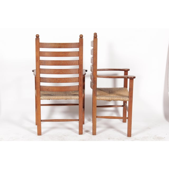 1930s Mission-Style Dining Chairs - Set of 6 - Image 6 of 11