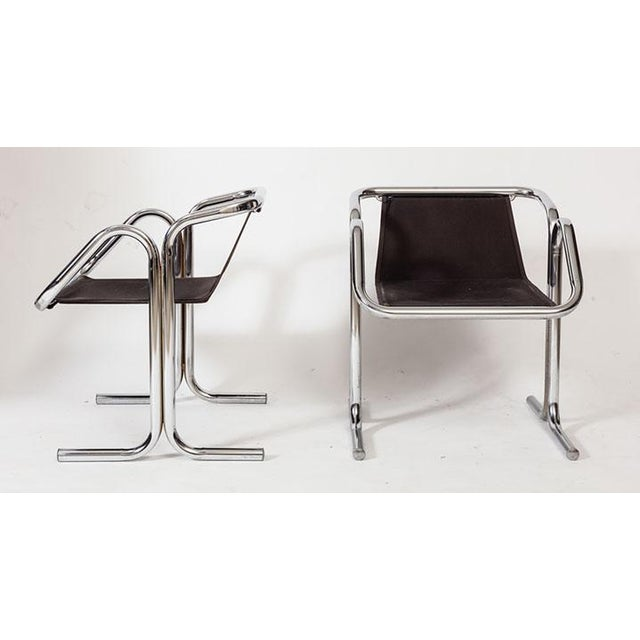 Jerry Johnson Jerry Johnson Tubular Chrome Dining Chairs - Set of 8 For Sale - Image 4 of 7