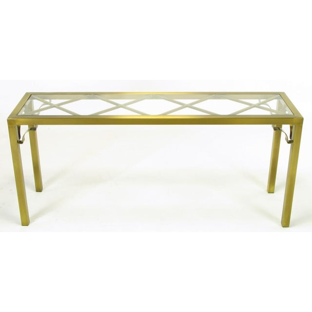 Mastercraft Brass Chinese Chippendale Console Table - Image 4 of 8