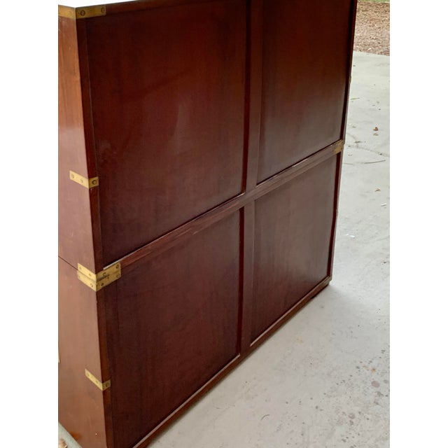 Antique Victorian Mahogany Campaign Chest For Sale In Phoenix - Image 6 of 7