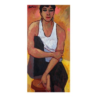 "Rip Matteson ""Insurgent"" Seated Female Portrait Oil Painting, 2003 For Sale"
