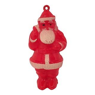 1950s Plastic Santa Ornament For Sale