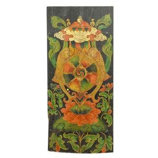 Antique Tibetan Lotus Door