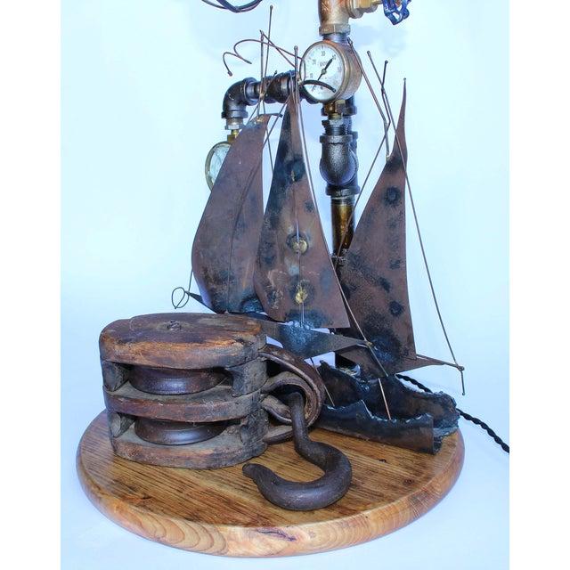 Vintage Nautical Lamp - Image 3 of 7