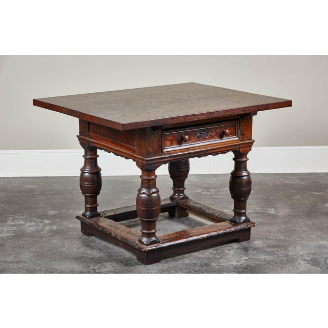 18th Century Danish Baroque Table With Turned Legs For Sale - Image 10 of 10