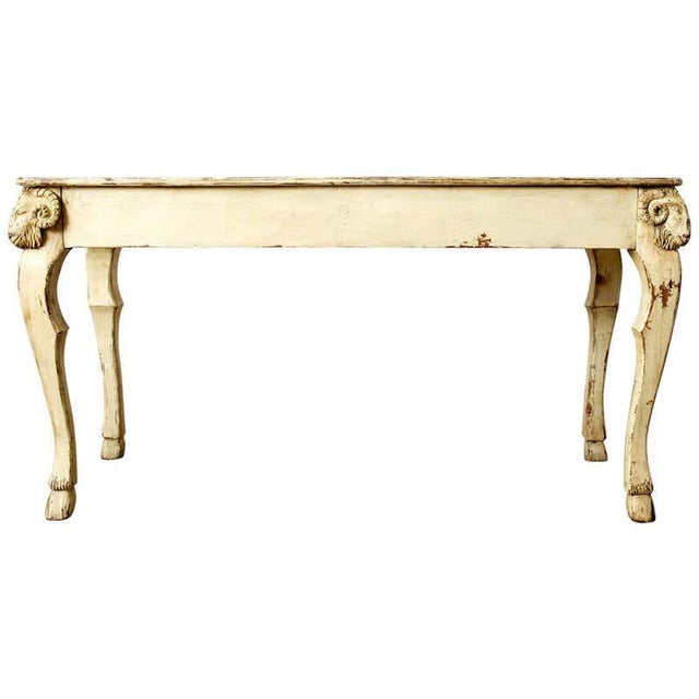 Rustic Italian Lacquered Ram's Head Motif Writing Table For Sale - Image 13 of 13