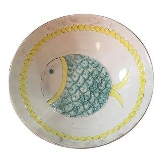 Vintage Majolica Italian Fish Bowl