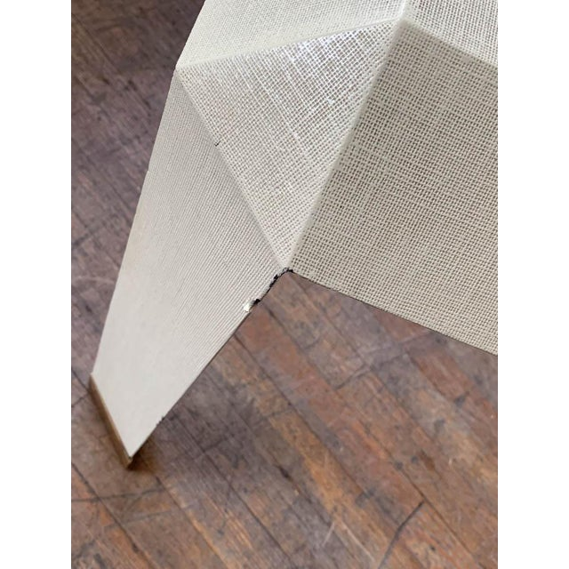 Mid Century Karl Springer Off White Table For Sale In New York - Image 6 of 9
