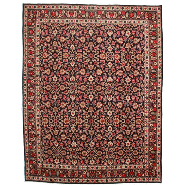 Hand Knotted Persian Bijar Rug - 10′2″ × 12′9″ For Sale