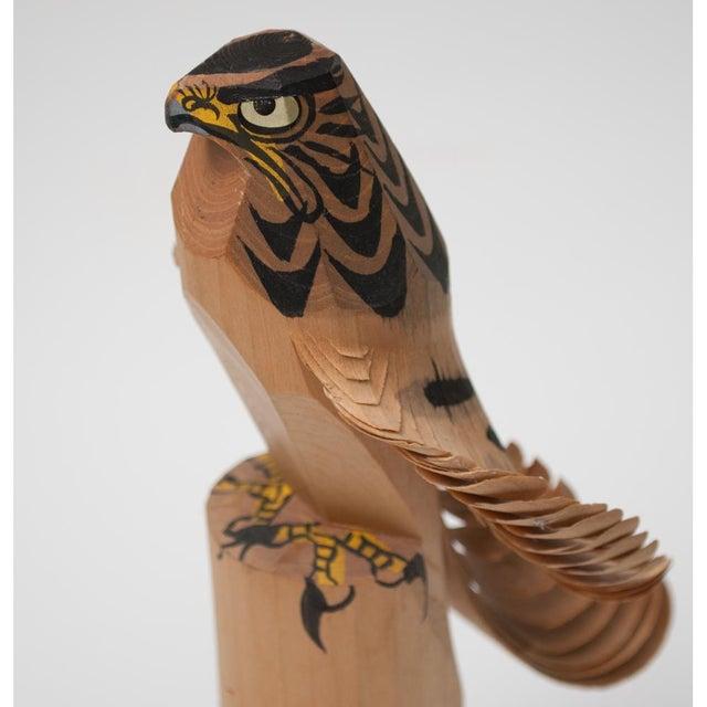 Tan 1960s Japanese Kokeshi Eagle Doll For Sale - Image 8 of 13