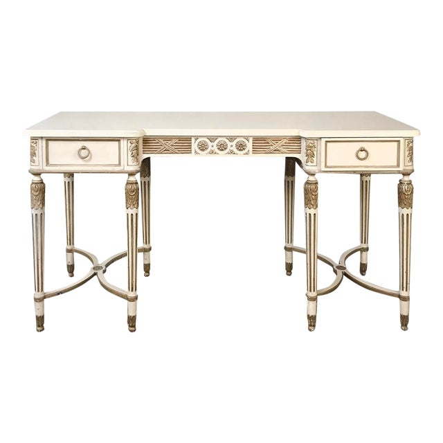 Antique Italian Neoclassical Painted Sofa Table ~ Vanity ~ Writing Desk For Sale