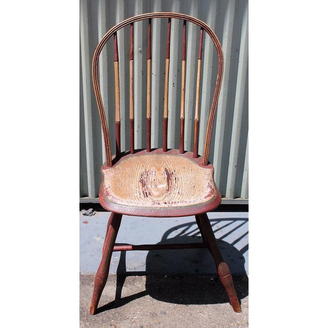 Early 19Thc Original Paint Decorated Windsor Side Chair For Sale - Image 4 of 10