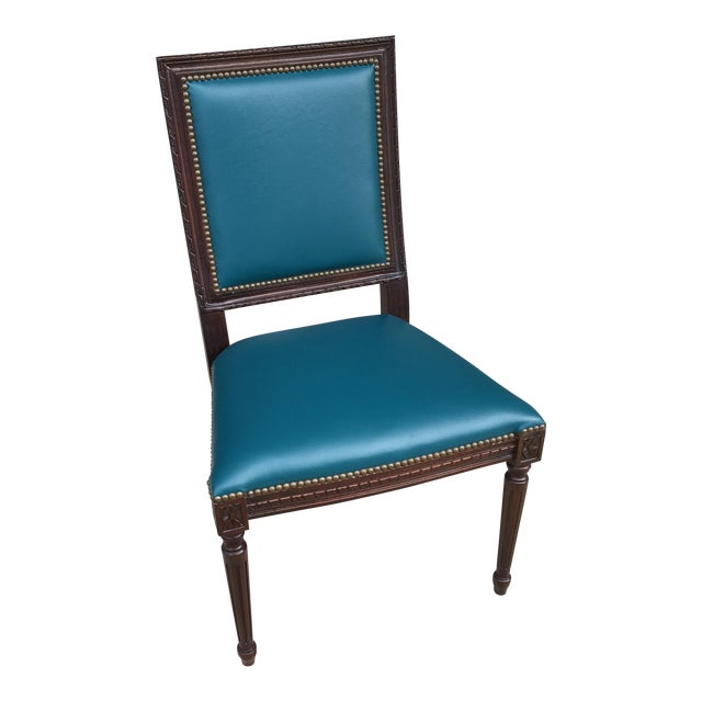 Massoud Regency Style Leather Accent Chair - Image 1 of 10