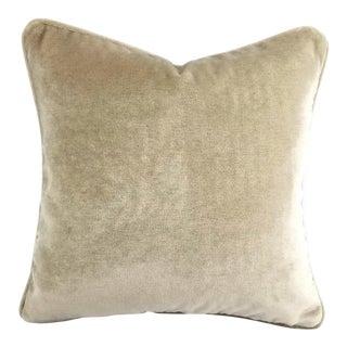 Opuzen Mohair Fawn Self-Welt Pillow Cover For Sale