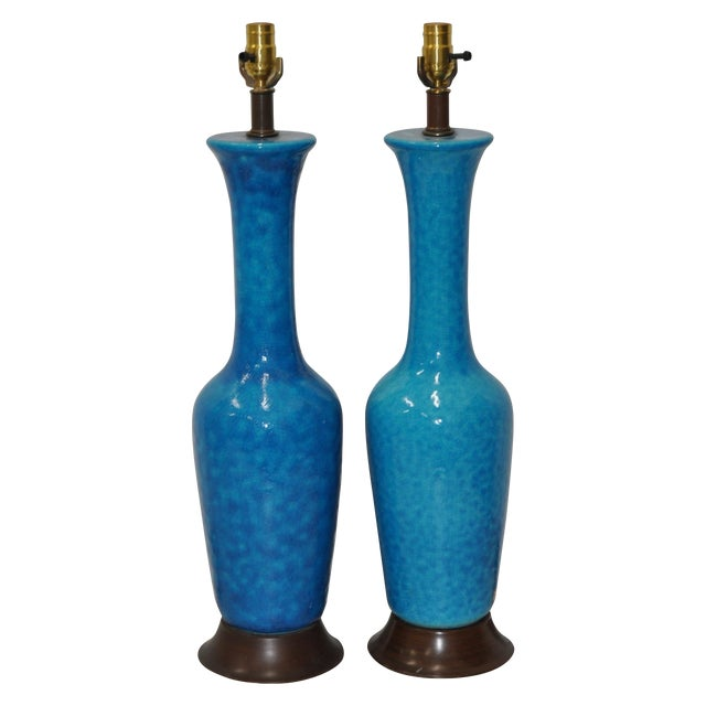 Mid-Century Modern Table Lamps - Pair For Sale