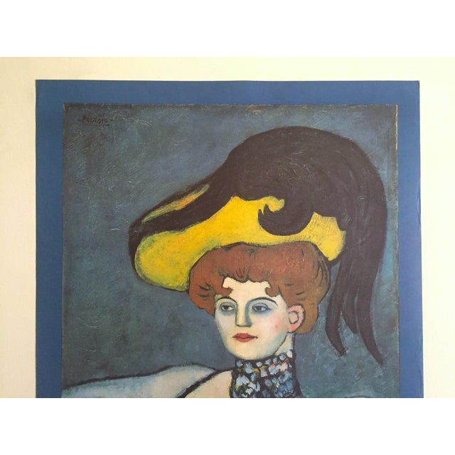 """This Pablo Picasso rare vintage 1985 lithograph print exhibition poster """" Courtesan with Jeweled Collar """" 1901, is a very..."""