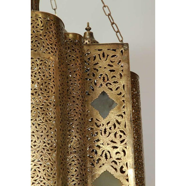 Mid 20th Century Large Moroccan Moorish Brass Chandelier For Sale - Image 5 of 13