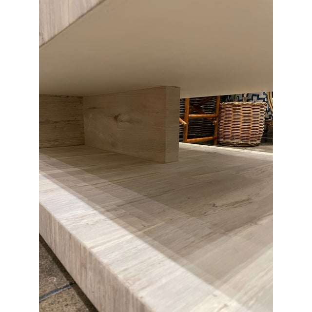 Cantilever Oak Coffee Table For Sale In Los Angeles - Image 6 of 7