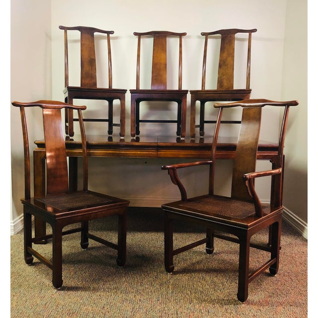 Vintage Henredon Mahogany Dining Set - 6 Pieces For Sale - Image 10 of 10