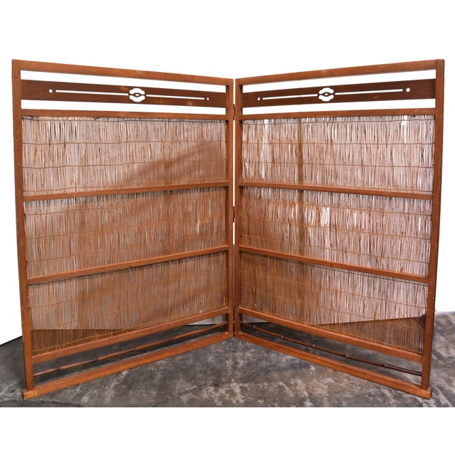Wooden Japanese Screen - Image 2 of 4