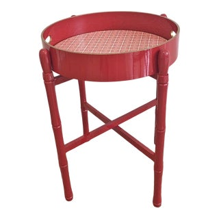 Round Tray Table in Syrah For Sale