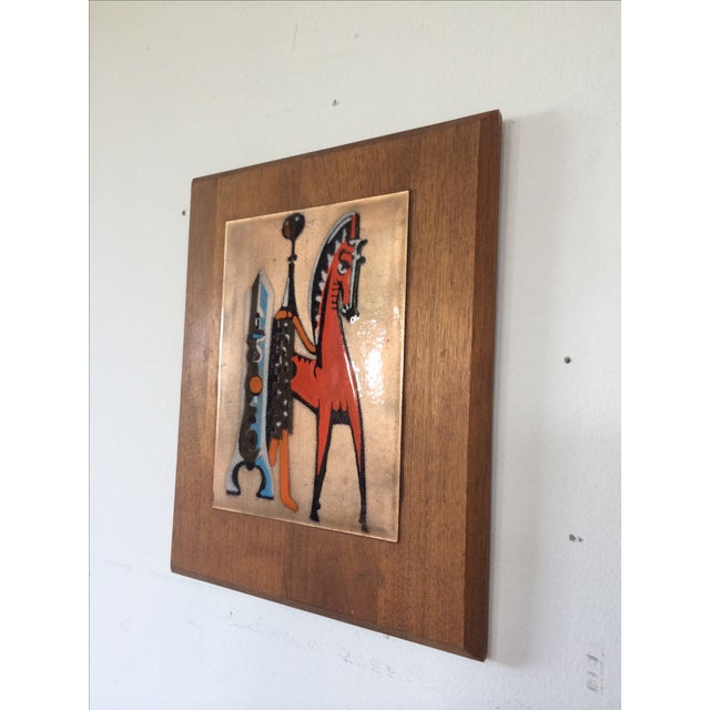 Mid-Century Copper Art with Horse For Sale - Image 4 of 6