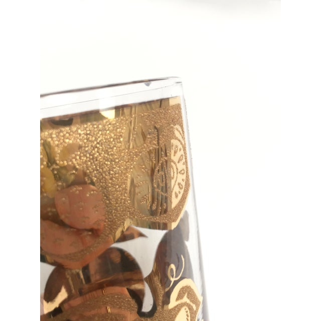 Glass Mid-Century Culver 22k Gold Fruit Tumblers - Set of 8 For Sale - Image 7 of 7