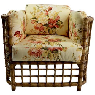 Suite of Willow Reed Bamboo Chairs and Ottoman by Henry Olko Preview