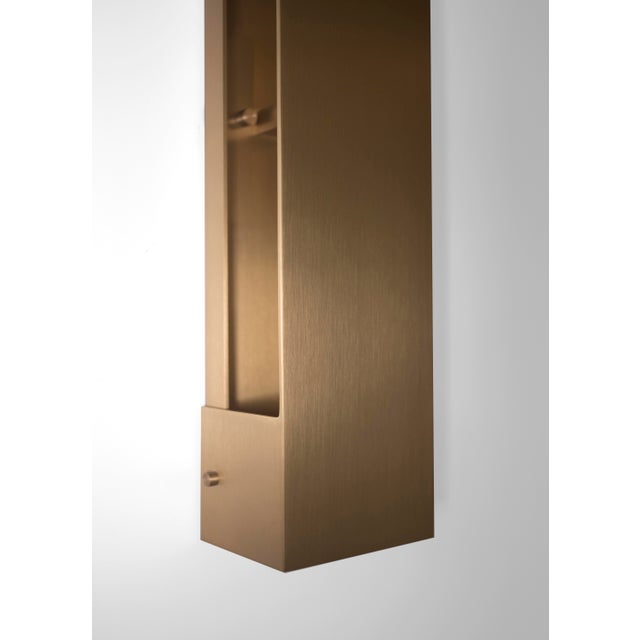 Early 21st Century Modern Contemporary 001 Picture Light in Brass by Orphan Work For Sale - Image 5 of 6